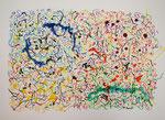 無題120515 アクリル、オイルパステル、水彩紙 55×75cm
