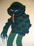 妖怪 アクリルガッシュ、キャンバス 116.6×91cm