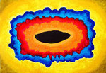 existence #3、アクリル、アブソルバン、キャンバス 15.8×22.7cm