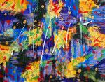 無題140910、アクリル絵の具、アブソルバン、モデリングペースト、キャンバス 31.8×41cm