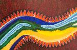龍Ⅱ アクリル、キャンバス 53×80.3cm
