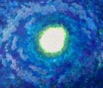 波動 #9 アクリル、ジェッソ、キャンバス 45.5×53cm