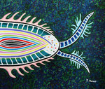 宇宙幼虫 #4 アクリル、水彩紙 45.5×53cm