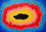 existence #1、アクリル、アブソルバン、キャンバス 15.8×22.7cm