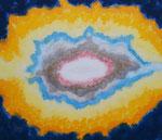 波動 #3 アクリルガッシュ、胡粉ジェッソ、キャンバス 45.5×53cm