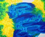 無題150106 アクリル絵具、キャンバス 38×45.5cm