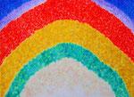 虹の彼方に アクリル、キャンバス 53×72.7cm