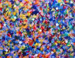 自然の光 #1 アクリル、ジェッソ、キャンバス 31.8×41cm