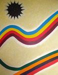 虹と黒い太陽 アクリル、モデリングペースト、キャンバス 145.5×112cm