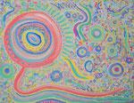 Healing magic アクリル、水彩紙 14×18cm