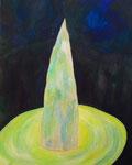 ひとりしずか アクリル、キャンバス 91×72.7cm