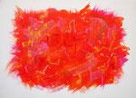 波動 #30 アクリル、オイルパステル、キャンバス 24.2×33.3cm