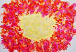 flower #24 アクリル、キャンバス 15.8×22.7cm