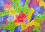 flower #23 アクリル、アブソルバン、キャンバス 24.2×33.3cm