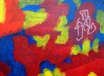 無題141130 アクリル、オイルパステル、キャンバス 24.2×33.3cm
