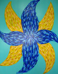blue flower, acrylic on canvas, 91×72.7cm