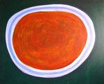 楕円 アクリルガッシュ、キャンバス 91×72.7cm