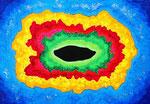 Existence #2, Acrylic on canvas, 15.8×22.7cm