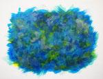 波動 #31 アクリル、キャンバス 31.8×41cm