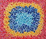 内宇宙 #5、アクリル絵の具、水彩紙 45.5×53cm