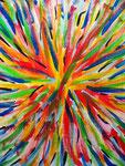 花あるいは花火 アクリルガッシュ、キャンバス 91×72.7cm