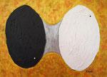 光と闇のバランス アクリル、フレキシブルモデリングペースト 53×72.7cm