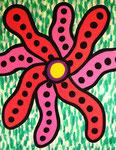 花081116 アクリルガッシュ、キャンバス 116.6×91cm