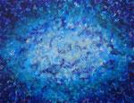 波動 #15、アクリル絵の具、アブソルバン、キャンバス 31.8×41cm
