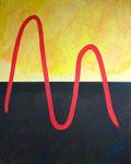 光と闇を行き来する者 アクリル、サンディ、キャンバス 100×80.3cm