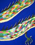 龍 アクリルガッシュ、キャンバス 100×80.3cm