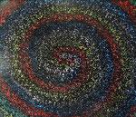 銀河の渦 アクリルガッシュ、キャンバス 45.5×53cm