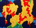 Nature #18 アクリル、アブソルバン、キャンバス 31.8×41cm