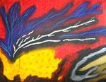 感情の放出と少しの理性 アクリル、キャンバス 91×116.6cm