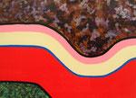 現代模様 アクリル、ジェルメディウム、キャンバス 24.2×33.3cm