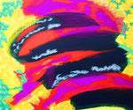 無題141231 アクリル、アブソルバン、キャンバス 38×45.5cm