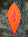 生命の源あるいは宇宙の割れ目 アクリルガッシュ、キャンバス 91×72.7cm