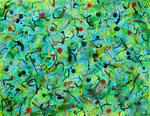 万華鏡 #2 アクリル、オイルパステル、キャンバス 41×53cm