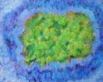 癒しの光 アクリル、ジェッソ、キャンバス 72.7×91cm 心理臨床オフィス artisan 蔵