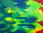 Nature #17 アクリル、アブソルバン、キャンバス 31.8×41cm