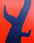 赤と青110920 アクリル、モデリングペースト、キャンバス 91×72.7cm