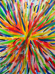 flower or firework, acrylic on canvas, 91×72.7cm