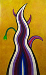 Purple flame acrylic on canvas, 145.5×89.4cm