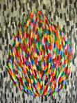 炎 アクリルガッシュ、キャンバス 116.6×91cm