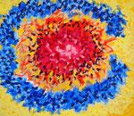内宇宙 #4、アクリル絵の具、水彩紙 45.5×53cm