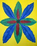 緑の花 アクリルガッシュ、キャンバス 91×72.7cm