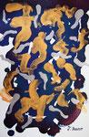 無題120112-2 アクリル、水彩紙 14.8×10cm 個人蔵