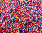 自然の光 #2 アクリル、ジェッソ、キャンバス 31.8×41cm
