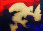 無題141128 アクリル、アブソルバン、キャンバス 24.2×33.3cm