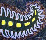 宇宙幼虫 #3 アクリル、キャンバス 45.5×53cm