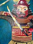 井伊の赤備え アクリルガッシュ、キャンバス 91×72.7cm